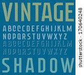 retro type font  vintage... | Shutterstock .eps vector #170640248