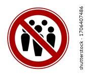 social distancing keep your... | Shutterstock .eps vector #1706407486