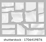 paper different scraps set ... | Shutterstock .eps vector #1706419876