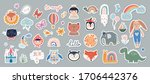 kids stickers badges collection ... | Shutterstock .eps vector #1706442376