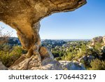 Cliff Pierced By Caves  Val D...