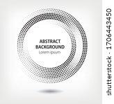gradient halftone pattern... | Shutterstock .eps vector #1706443450