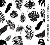 tropical leaves isolated vector ... | Shutterstock .eps vector #1706444899