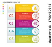 business infographic template.... | Shutterstock .eps vector #1706450893