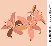 art collage lily flower in a... | Shutterstock .eps vector #1706451049