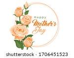 happy mother's day card. vector ... | Shutterstock .eps vector #1706451523