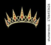 vector illustration of a crown... | Shutterstock .eps vector #1706453626