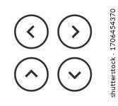 arrow control button icon set.... | Shutterstock .eps vector #1706454370
