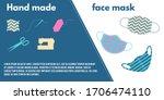 hand made face masks  poster... | Shutterstock .eps vector #1706474110