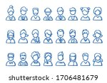 set of simple avatar portrait... | Shutterstock .eps vector #1706481679