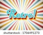 old vector retro vintage...   Shutterstock .eps vector #1706491273