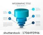vector infographic layers... | Shutterstock .eps vector #1706493946