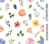 Cute Summer Floral Seamless...