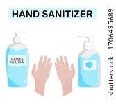 hand sanitizer pump bottle ... | Shutterstock .eps vector #1706495689