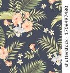 tropical vector seamless... | Shutterstock .eps vector #1706497480