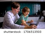 remote home work during the... | Shutterstock . vector #1706513503