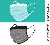 medical face mask flat icons....   Shutterstock .eps vector #1706516389