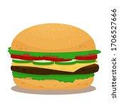 Colorful  Bright Hamburger ...