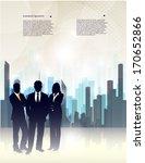 silhouette of businessmen on an ... | Shutterstock .eps vector #170652866