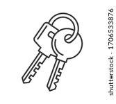 Keys Icon On White Background....