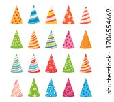 cartoon set of colorful...   Shutterstock .eps vector #1706554669