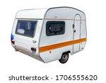 Battered  Small  White Caravan...