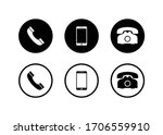 phone icon  call icon ... | Shutterstock .eps vector #1706559910