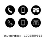 phone icon  call icon ... | Shutterstock .eps vector #1706559913