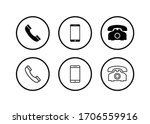phone icon  call icon ... | Shutterstock .eps vector #1706559916