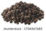 Pile Of Black Peppercorns  A...