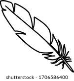 Feathe Outline Icon Logo Line