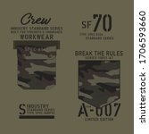pocket camouflage typography ... | Shutterstock .eps vector #1706593660