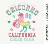 girl sport cheer team... | Shutterstock .eps vector #1706593666
