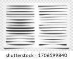 shadow realistic divider. line... | Shutterstock .eps vector #1706599840