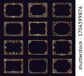 golden art deco frames. modern... | Shutterstock .eps vector #1706599876