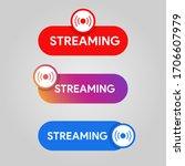 set of streaming icon. social... | Shutterstock .eps vector #1706607979