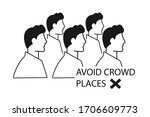 avoid crowd place icon vector... | Shutterstock .eps vector #1706609773