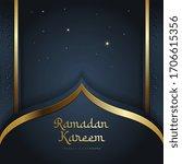 elegant ramadan background... | Shutterstock .eps vector #1706615356