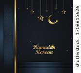 elegant ramadan background... | Shutterstock .eps vector #1706615626