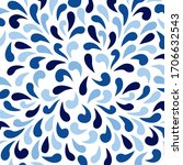 ornamental pattern with azure... | Shutterstock .eps vector #1706632543