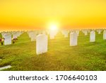 Cemetery Graveyard White...