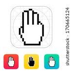 three fingers. pixel hand...