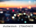 Bokeh Of Colorful Night City...