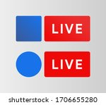 soceal media live button.... | Shutterstock .eps vector #1706655280