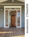 vertical shot of wooden front... | Shutterstock . vector #170666960