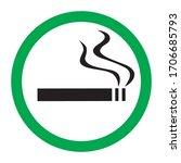 Smoking Area Icon On White...