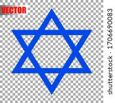 Star Of David Icon Isolated On...