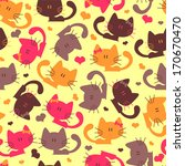 seamless pattern with sweet... | Shutterstock .eps vector #170670470