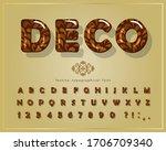decorative glossy font. cartoon ... | Shutterstock .eps vector #1706709340