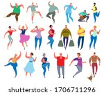 a crowd of people different...   Shutterstock .eps vector #1706711296